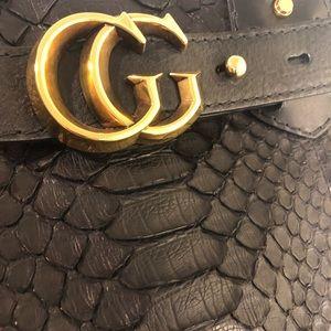 Gucci GG Running Large Python purse